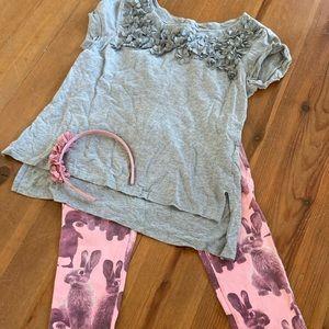 Cute Bunny Leggings for Girl Size 8